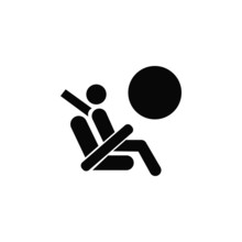 Airbag Vector Isolated Icon. Safety Flat Symbol