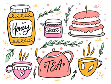 Tea Party With Sweet. Jar Of H...