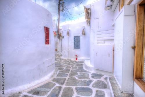 ミコノス島の風景 Canvas Print
