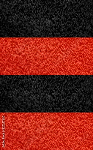 Fotografia, Obraz Texture of genuine leather. Black and red background.