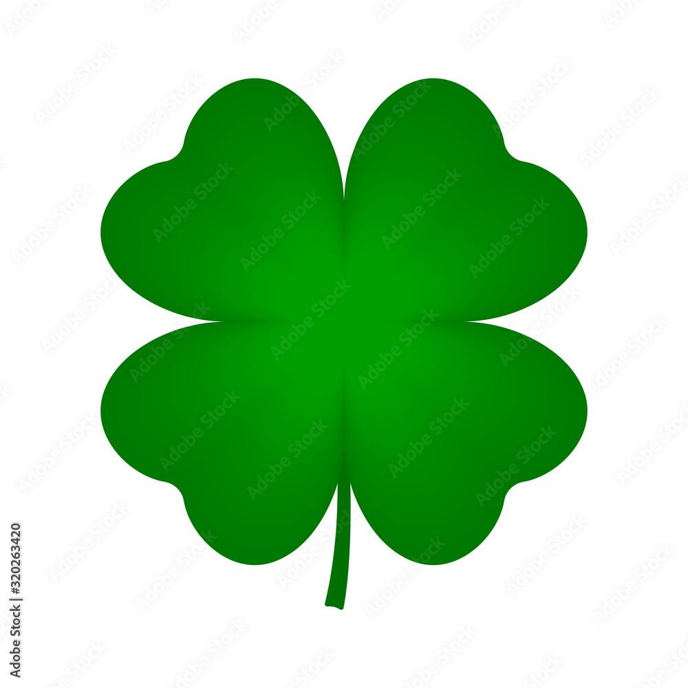 Fototapeta Four leaf clover icon. Vector.