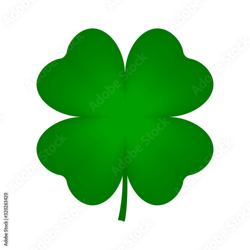 Canvas Four leaf clover icon. Vector.
