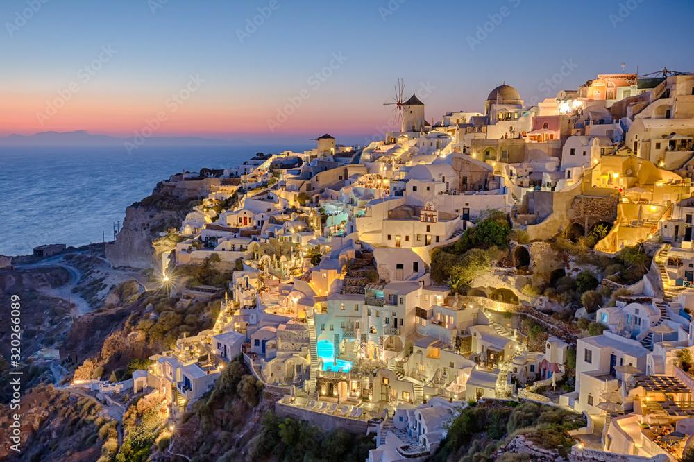 Fototapeta High Angle View Of Buildings At Santorini
