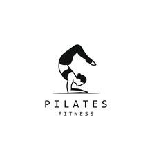 Pilates Logo For Pilates School. Pilates Studio. Yoga Logo Design Template