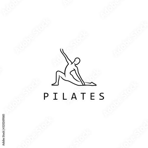 Fototapeta Pilates logo for pilates school