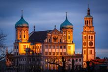 Rathaus Und Perlachturm In Aug...