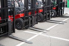 A Lot Of Forklift Truck, Detail View