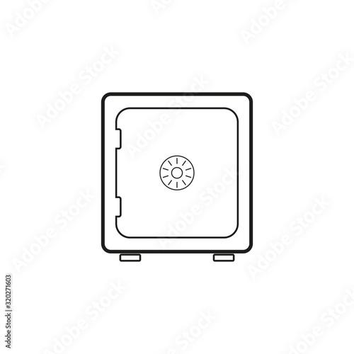 Fototapeta vector icon, of square metal safe obraz