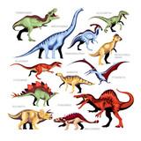 Fototapeta Dino - Dinosaur Color Cartoon Set