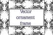 rectangular frame etnic ornament background. Vector illustration background