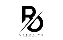 RO R O Letter Logo Design With A Creative Cut.