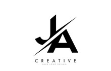 JA J A Letter Logo Design With...