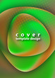 Round smooth triangular stones with a gradient mesh. Colorful liquid shapes for poster, banner, flyer and presentation. Fashionable soft colors and a smooth blend.