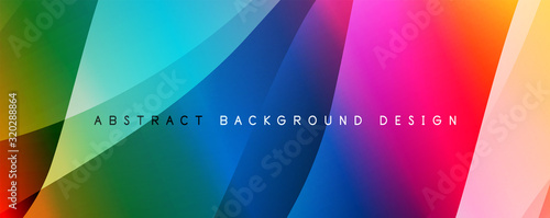 Fototapety, obrazy: Wave liquid style lines with shadows and light on gradient background