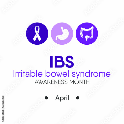 Vector Illustration on the theme of Irritable bowl syndrome (IBS) awareness month on April Wallpaper Mural