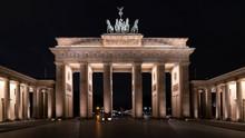 Historic Brandenburg Gate Berlin At Night, Brandenburger Tor, Nightscape, Germany