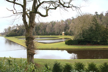Garden In North Yorkshire At Fountains Abbey, England