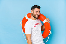 Young Handsome Lifeguard Man I...