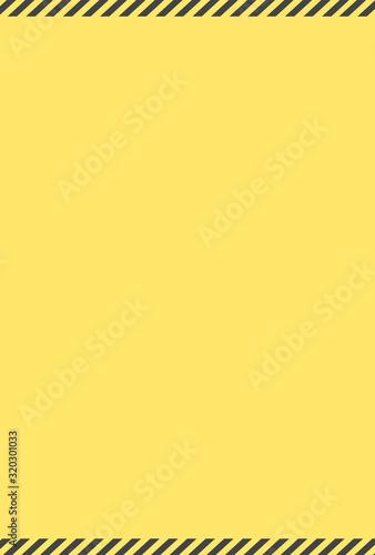 Obraz 警告・危険・防災イメージ素材:黄色と黒のシンプルな注意喚起背景素材(縦長) - fototapety do salonu