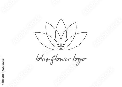 line lotus flower or flower of life Poster Mural XXL
