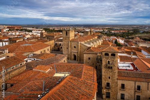 Cathedral of Santa Maria de la Asuncion in Caceres, Extremadura, Spain Canvas Print