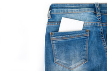 Blue Jeans Back Pocket With Pa...