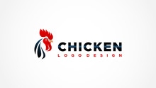 Abstract Chicken Head Logo. Re...