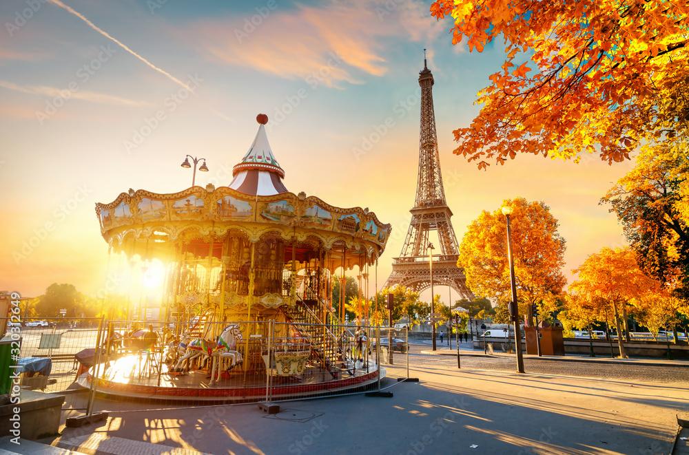 Fototapeta Park near Eiffel tower