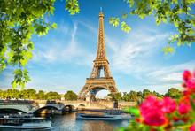 Bridge Iena And Flowers