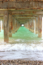 Underneath A Fishing Pier. The...