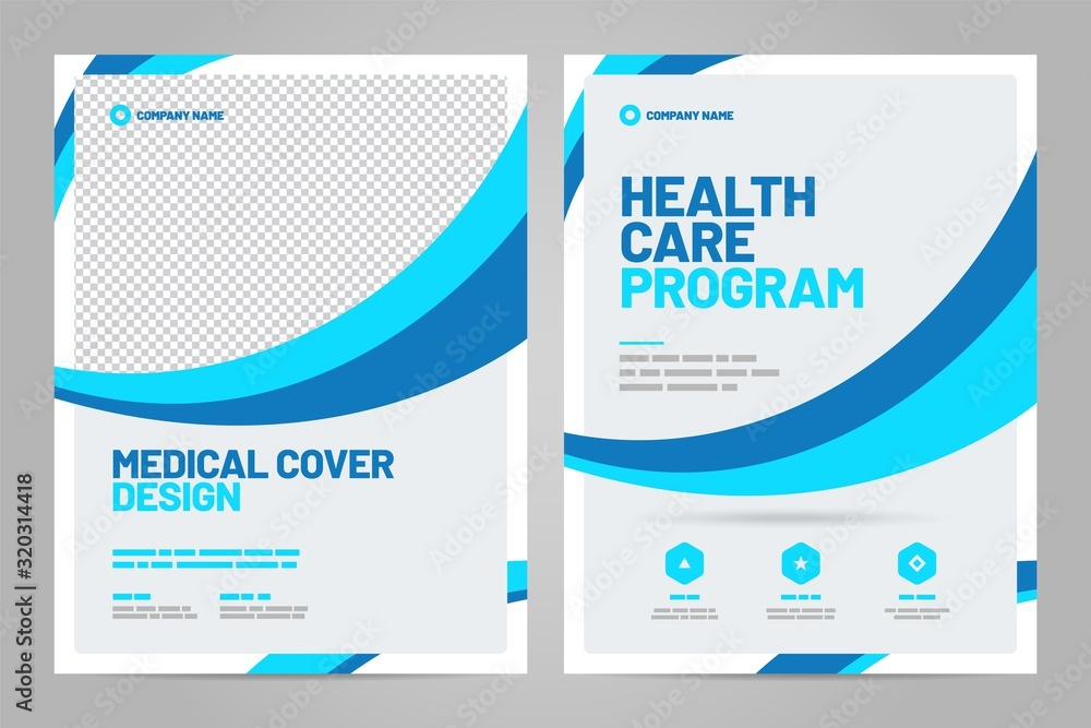 Fototapeta Layout template, brochure background. Vector design. A4 size for poster, flyer or cover.