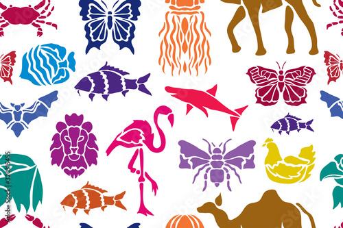 obraz lub plakat floral seamless pattern