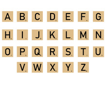 Scrabble Tiles On White Backgr...