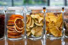 Dried Oranges And Apples In Gl...