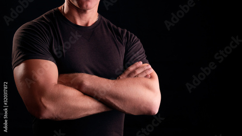 Fotografia A man with strong arms