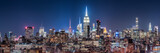 Fototapeta New York - New York City skyline at night