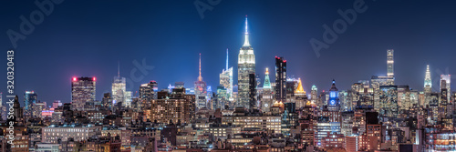 Fototapeta New York City skyline at night obraz