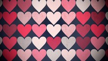 Colorful Hearts Pattern, Abstr...