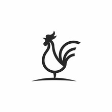 Rooster Chicken Line Outline M...