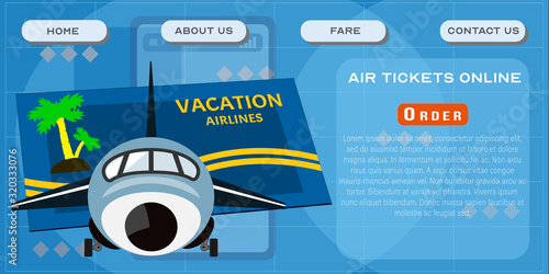 Photo Air tickets online site template