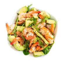 Salad With Avocado, Shrimp And...