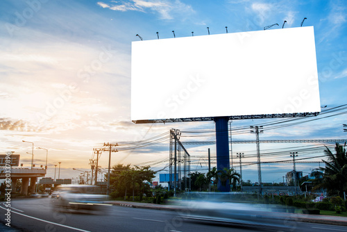Fotomural billboard blank for outdoor advertising poster or blank billboard for advertisement