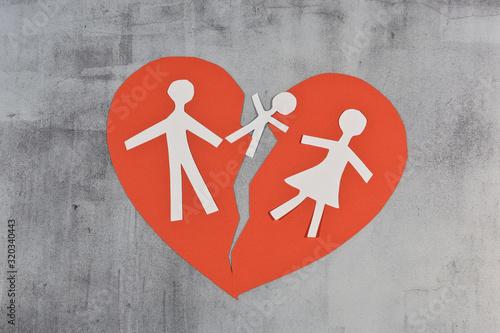 Stampa su Tela enfant couple mariage divorce