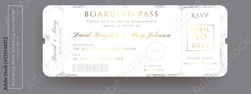 Fotomural Destination Wedding Pass Vector