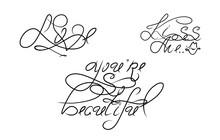 Romance Set Lettering For Cele...