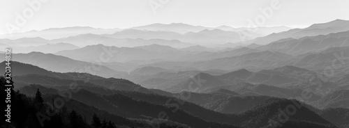 Obraz na plátně view of mountains
