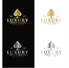 Gold Spade Luxury Logo Vector,...