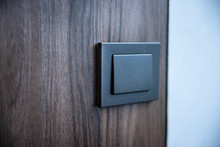 Old Wood With Black Light Switch