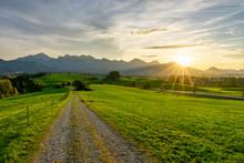 Image Of Bavarian Sunset Lands...