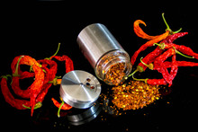 Hot Chilies Still-life, Red On...